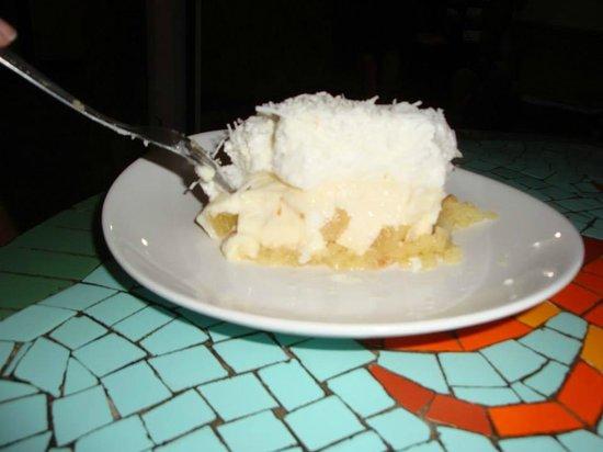Cafe Mare Mansa: Tarta de ananá y coco