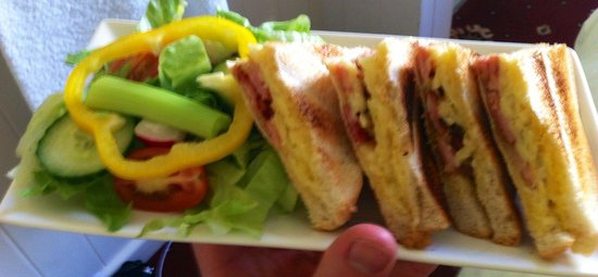Lawrence House Hotel: The Freshly Made Bacon & Cheese Toastie