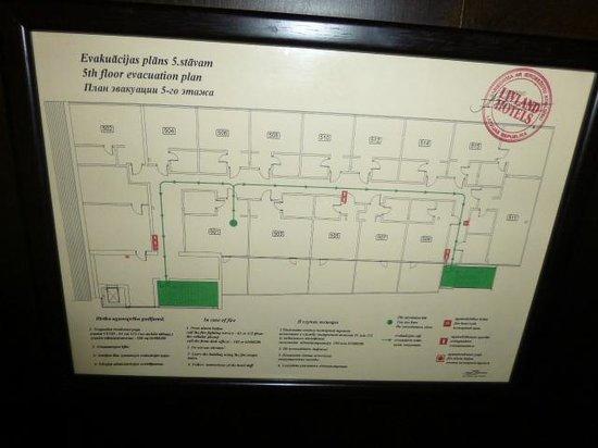 Promenade Hotel: Floor plan
