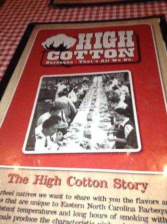 High Cotton NC BBQ: Add a caption