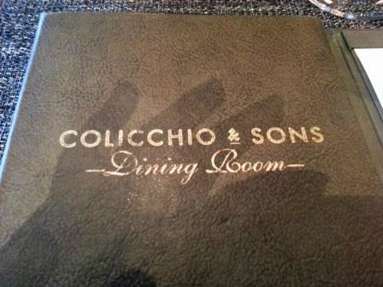 Colicchio & Sons Tap Room : The menu