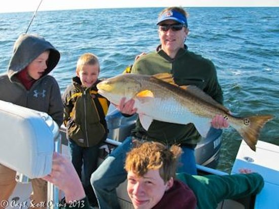 Cobia inshore fishing picture of captain scott owens for St simons island fishing
