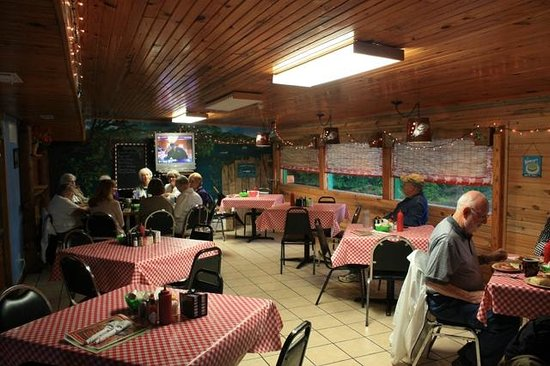 Interior picture of log cabin family restaurant llc