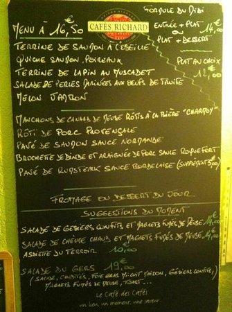 Le Clapier : El menú, el cual te ayudan gratamente!!