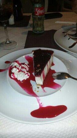 El Cortijillo: tarta de queso. ..pa chuparse los dedos ...