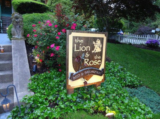 The Lion and The Rose Bed and Breakfast : View of front walk