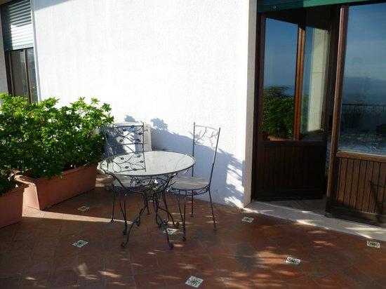 Villa Sara: la terrasse de la chambre