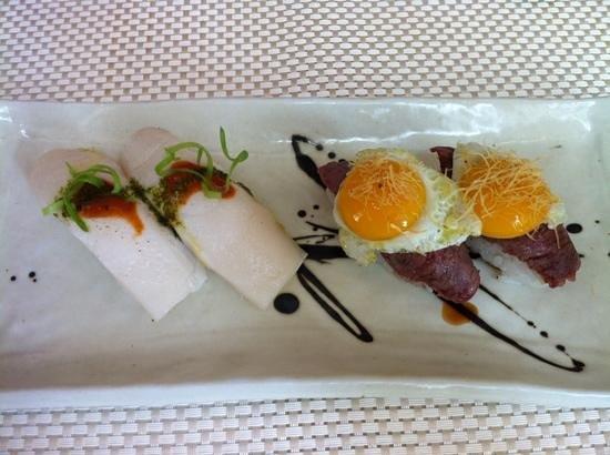 Pez mantequilla y kobe con huevo de codorniz fotograf a de nikkei 225 madrid tripadvisor - Nikkei 225 restaurante ...