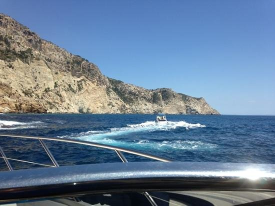 Boats Ibiza: our sister boat keeping close by