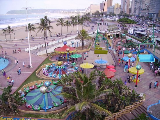 Hilton Durban: View of North and South Beach From Fun Amusement Park