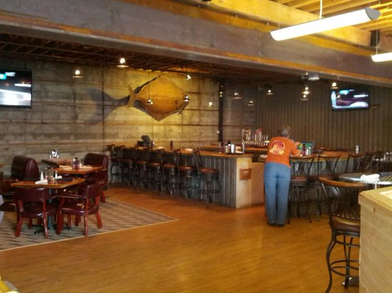Seward Brewing Company: The bar area inside