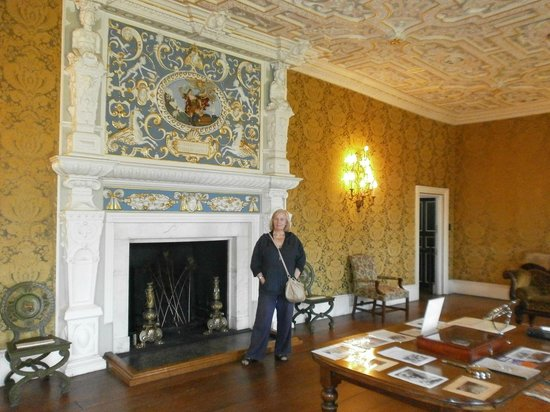 Boston Manor Park: Drawing room with ornate fireplace