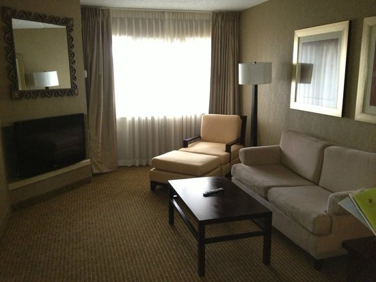 DoubleTree Suites by Hilton Hotel Dayton - Miamisburg: Living room