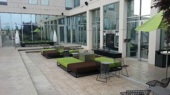 Aloft Rogers-Bentonville: The Backyard - great space with splash pool (not in picture)