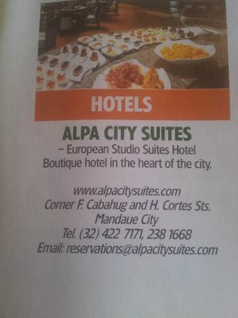 Alpa City Suites: Hotel Address