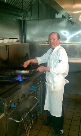 Adriano's Italian Restaurant: the owner and chef, adriano