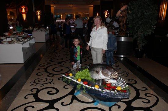 "Susesi Luxury Resort: ресторан - ""рыбная ночь"""