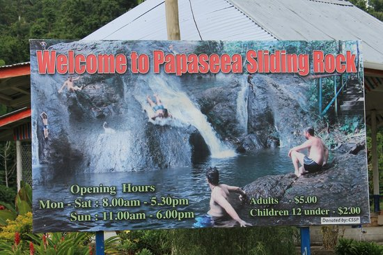 Papaseea Sliding Rock: Signage