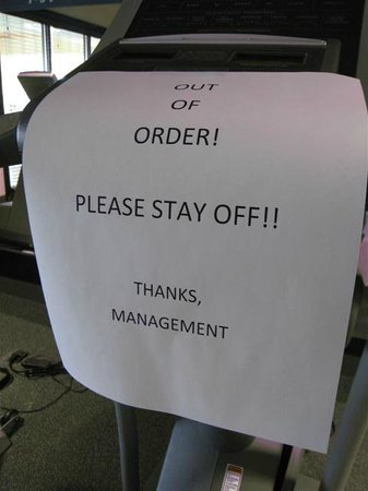 Hampton Inn & Suites Peru: Excercise equipment out of order for three days