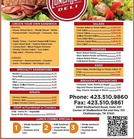 Lunch Box Deli: menu