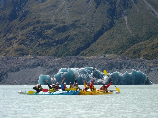 Southern Alps Guiding: Very big Ice Berg on the Tasman Glacier Lake