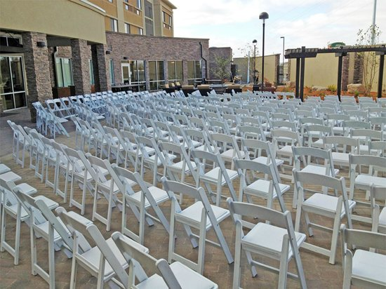 Courtyard Mankato : Chairs set up for outdoor wedding