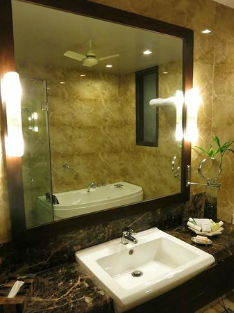 juSTa Gurgaon Hotel : The bathroom, iew 1