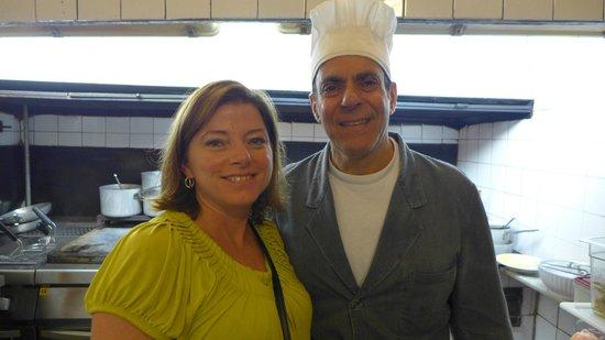 Trattoria Sostanza: The chef and my wife