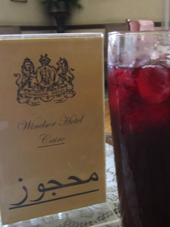 Windsor Hotel Cairo: Delicious karkadai...dried hibiscus drink!
