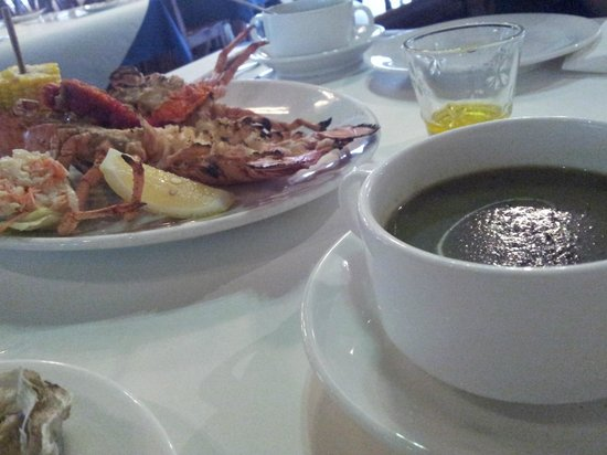 The Lobsterman : spinach soup