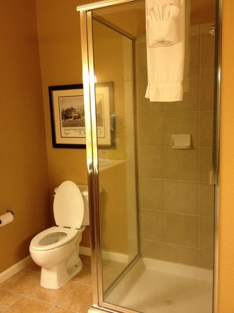 1862 David Walley's Hot Springs Resort and Spa: Shower in newer 1 bedroom units