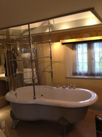The Mole and Chicken: The open plan bath with shower in room 3