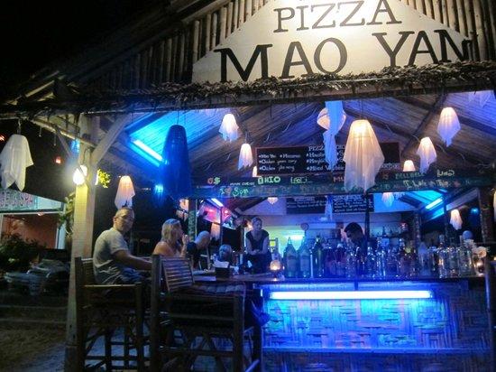 Mao Yan Pizza: The Bar from the beach