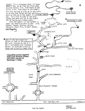 Laie Falls Trail : Laie Falls Map