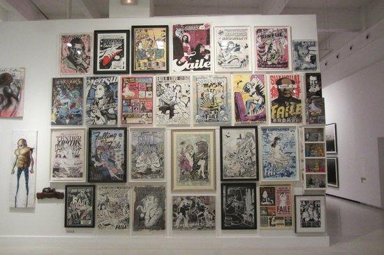 Cac Malaga Centro de Arte Contemporaneo de Malaga : Part of the displays in the Centro de Arte Contemporaneo