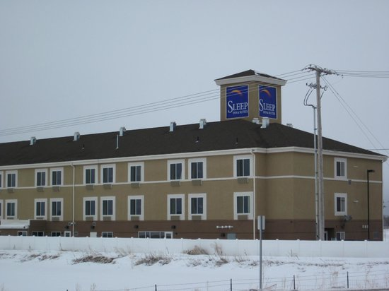 Sleep Inn & Suites: Hotel in winter