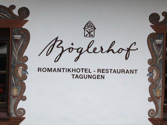 Hotel Boglerhof: The Hotel Sign