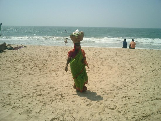 Benaulim Beach: in the beach