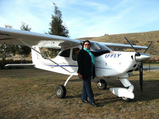 The plane I flew with U-Fly Wanaka