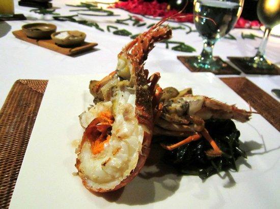 The Chedi Club Tanah Gajah, Ubud, Bali – a GHM hotel: My lobster on my husband's birthday dinner