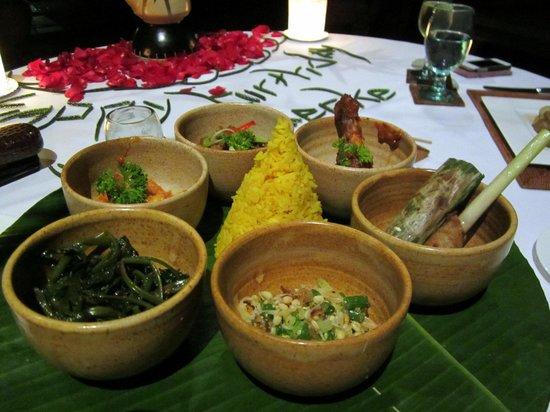 The Chedi Club Tanah Gajah, Ubud, Bali – a GHM hotel: My husband's birthday meal