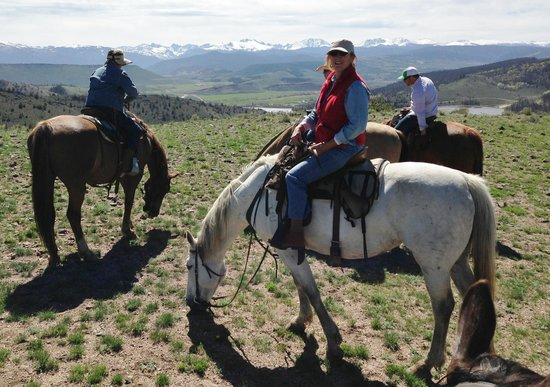 C Lazy U Ranch: A Moment's Rest on Trail Ride
