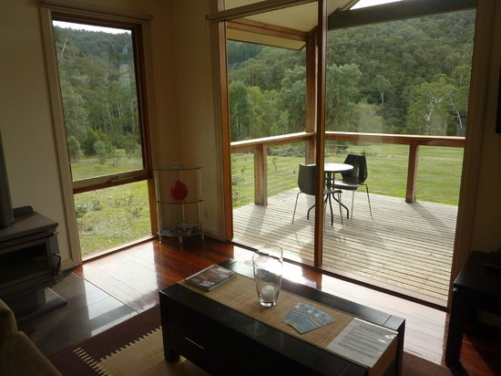 Yering Gorge Cottages: View from family room.