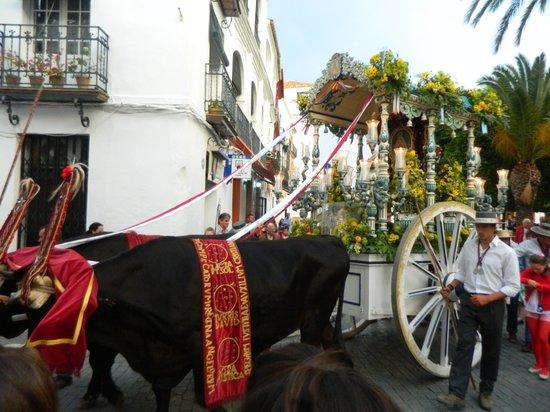 Alcazar de la Reina Hotel: Homage to Virgen dela Rocio.
