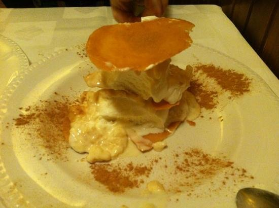 La Taberna de la Cuarta Esquina: postre de galleta-vainilla-arroz con leche. espectacular
