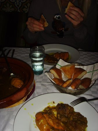 Riad Vert Marrakech: One of the many lovely evening meals