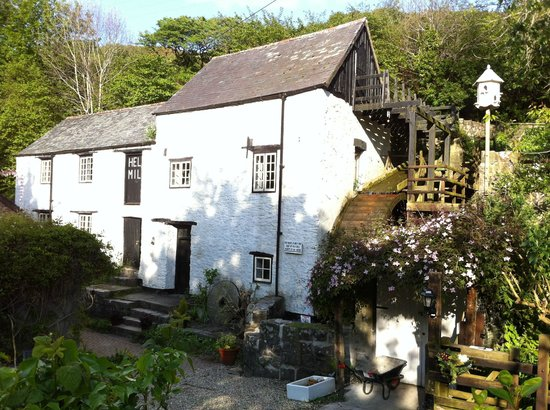 Ilfracombe, UK : 16th C. Hele Corn Mill in May 2013