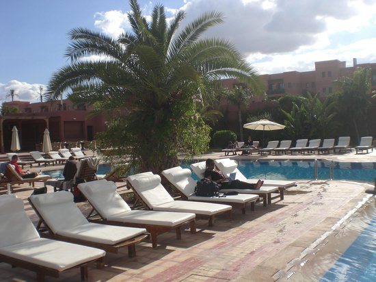 Palm Plaza Marrakech Hotel & Spa: Just a few minutes before checking out at the swimmingpool