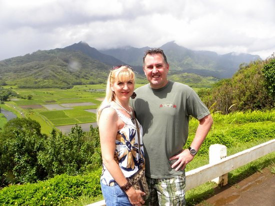 Hanalei Valley Lookout: My husband and I at the Overlook.