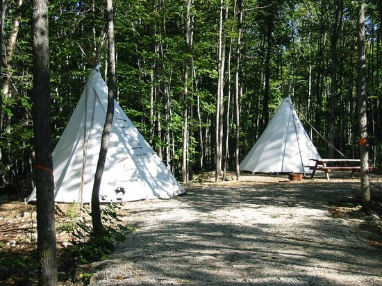 Gordon's Park: Try our new Tipi Tents instead of setting up your tent.